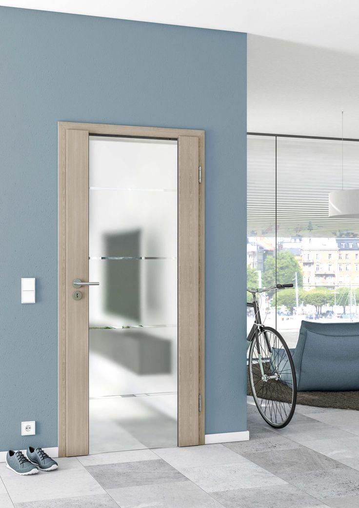 Unsere Sueno Tür ist eine hochwertige Symbiose aus Holz und Glas für eine lange Lebensdauer.