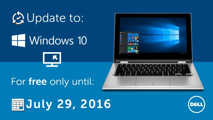 Today is your last chance for Win 10 free upgrade and you will then benefit the Win 10 anniversary update on Aug 2