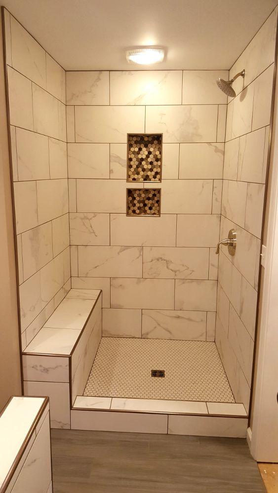 Hexagon Tile Bathroom Floor Patterns