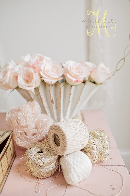 Flowers and Twine.Ideas For, Home, Clifton Crafts, For, Colors Pink, Pretty Pastel, Pink Rose, Crafty Ideas, Crochet Knits Tat