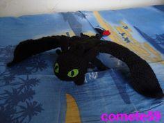 modèle krokmou dragon au crochet en français