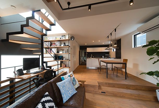 CASE 356 | E-House(大阪府大東市)|狭小住宅・コンパクトハウス | 注文住宅なら建築設計事務所 フリーダムアーキテクツデザイン
