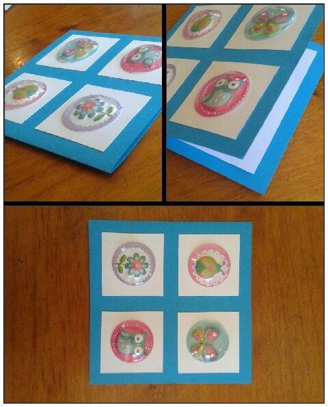 Ladybird, butterfly, flower and owl card for little girl