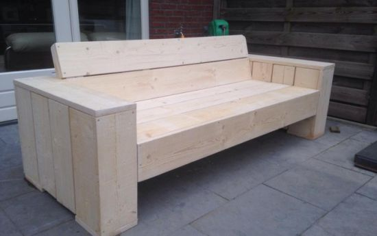 25 beste idee n over zelfgemaakte meubels op pinterest for Zitbank steigerhout