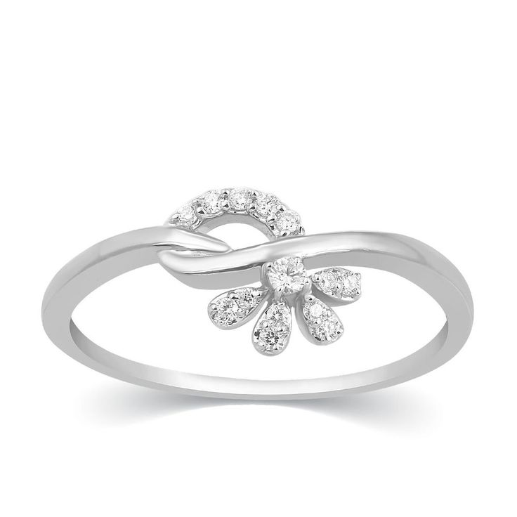 NEW Fine Solid 950 Platinum Round Cut Natural Diamond Floral Promise Band Ring #CaratsForYou #Promise #Christmas