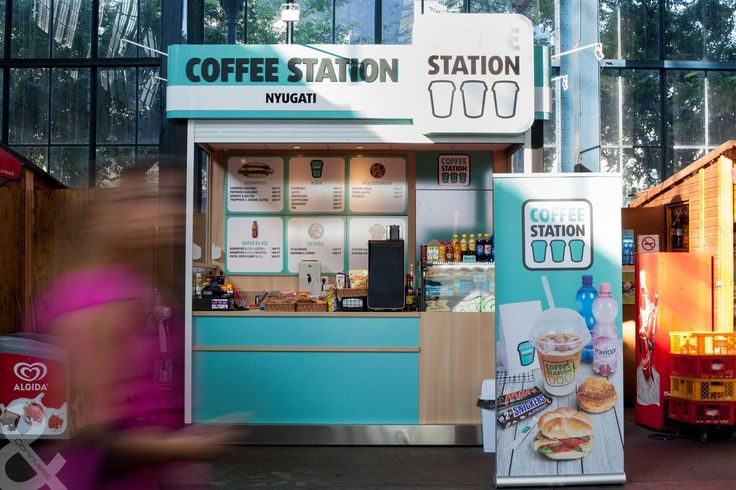 Coffee Station kávé kioszk, Nyugati Pályaudvar Budapest / Coffee Station kiosk, Budapest West Railway Station #coffee #cafe #interior #design #coninvest #reference #furniture