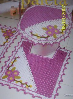 ... decorar seu banheiro os tapedes de crochê para banheiro incrementam