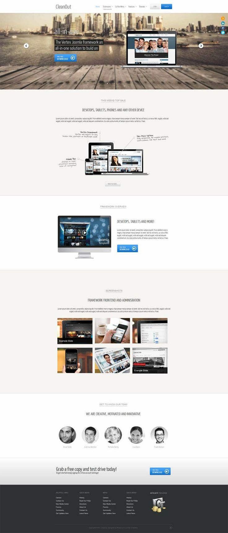 CleanOut Joomla Template for Mobile App Promoting