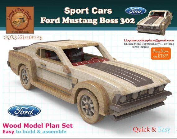 Ford Mustang Carro De Madeira Carros De Brinquedo De Madeira Carrinho De Madeira