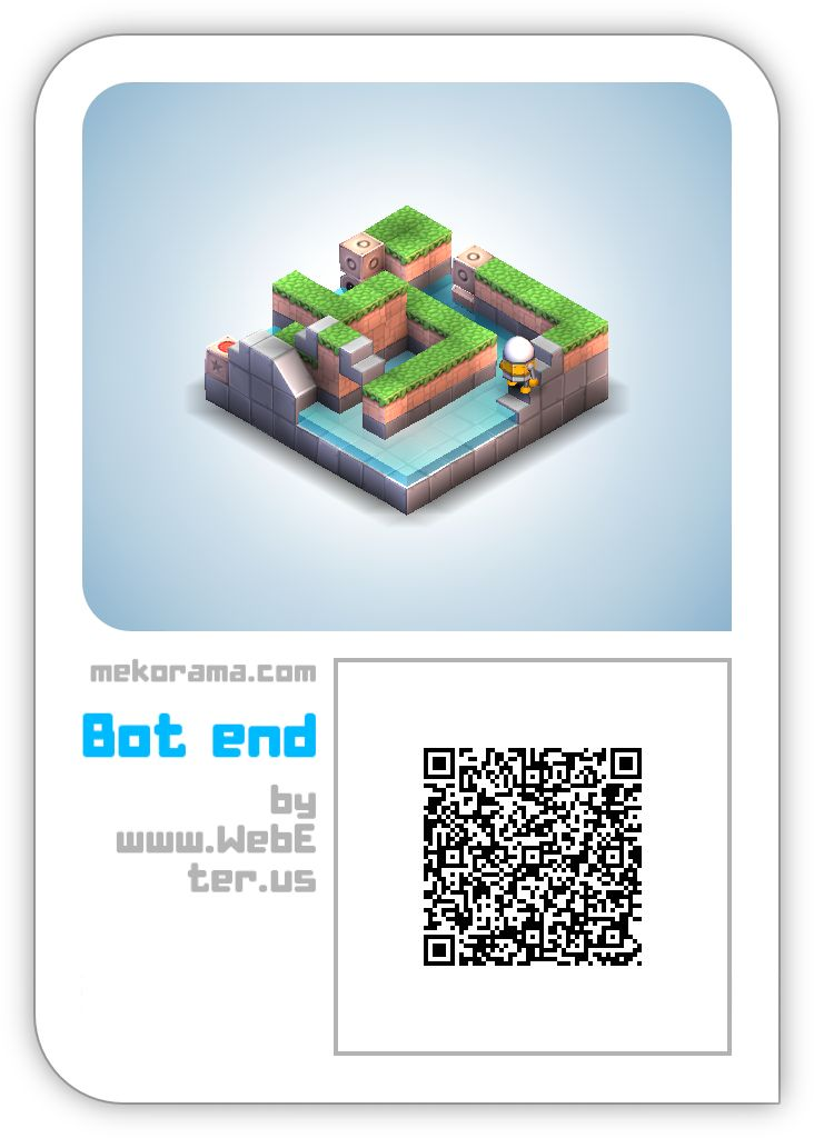 #mekorama bot end. Just scan to get this level.