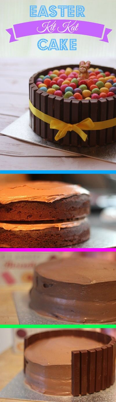 How to make an Easter KitKat Cake to wow your friends and family!