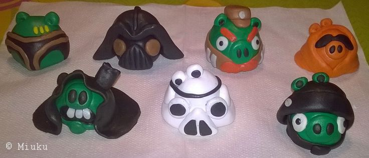 Star Wars Angry Birds from FIMO. / Agnry Birds -hahmoja FIMO massasta.
