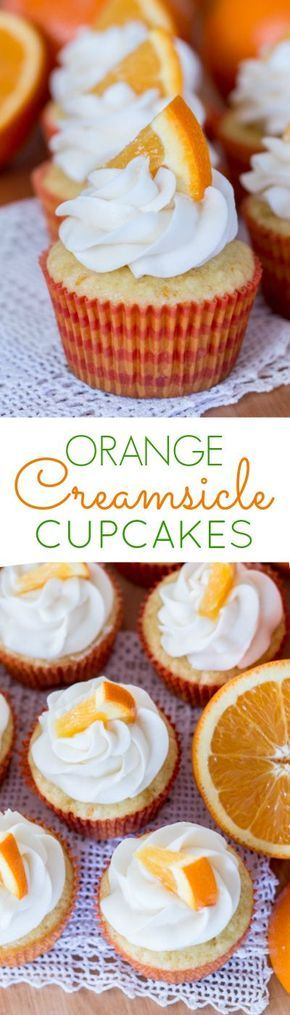 With fresh orange zest and juice mixed into the thick batter, these Orange Creamsicle Cupcakes bake into tender little treats with a deliciously sweet orange flavor. Topped with vanilla buttercream or freshly whipped cream, they're reminiscent of the classic orange-vanilla frozen bars. A perfect summer recipe!