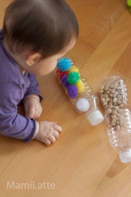 Juguetes caseros para bebés de más de 6 meses: botellas sensoriales | MamiLatte