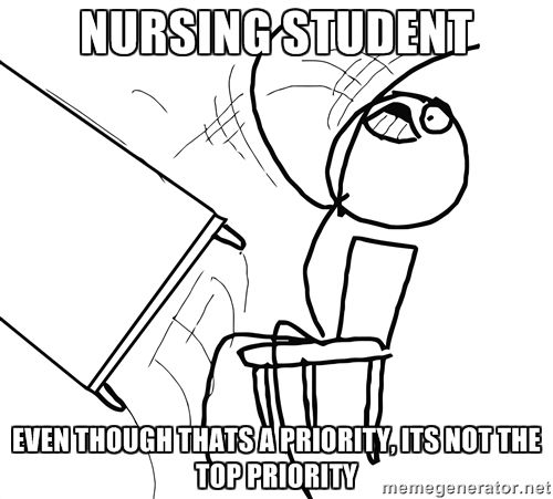 nursing student memes | nursing student even though thats a priority, its not the top priority ...