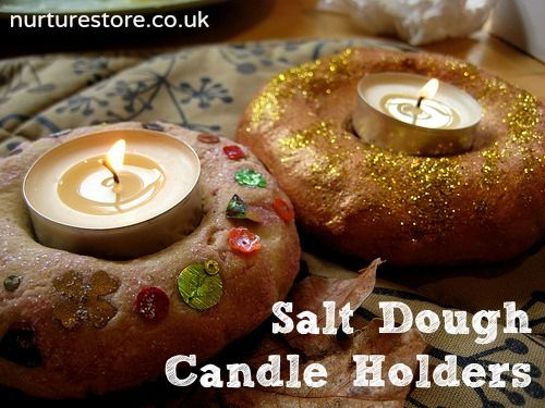 Gorgeous salt dough candle holders - making these for Divali