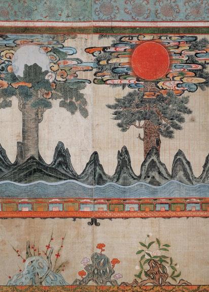 [Joseon Dynasty, 19th Century] Paintings: Sun, Moon, and Trees