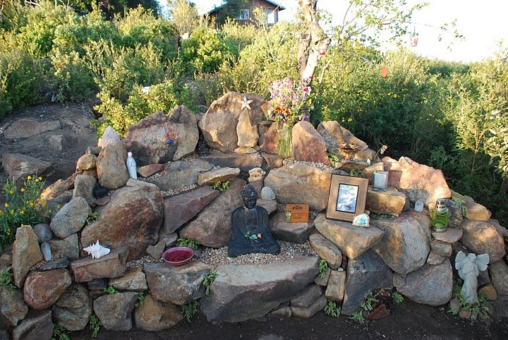 Family Altar built by my Rauen Sisters Summer Solstice 2011.  WindTree, CA