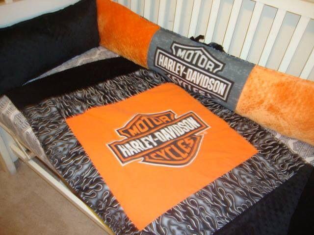 Harley Davidson Biker Bedding Crib Sets And Baby Gear I