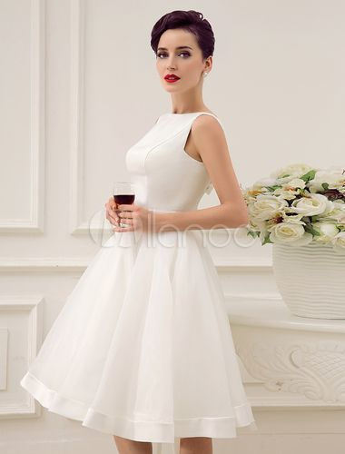 Backless A-line Wedding Dress