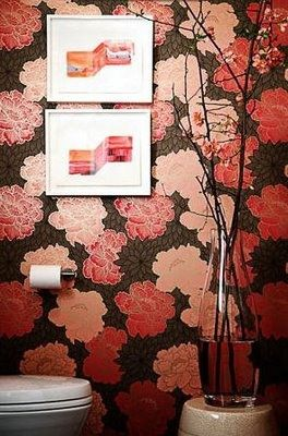 bold bathroom wallpaper | CheviotProducts likes this bold bathroom wallpaper.
