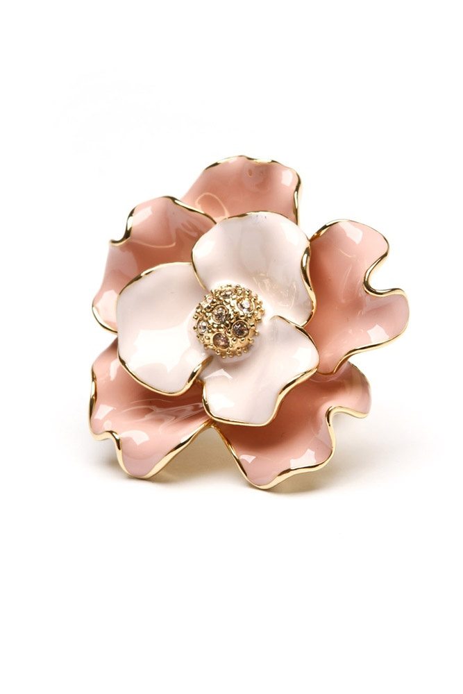 wildfox couture - women's enamel flower ring (gold/pink) - wildfox couture | 80's Purple: Wildfox Couture, Enamels Flowers, Flower Rings, Woman Enamels, Couture Enamels, Pastel Colors, Floral Enamels, Rings Gold Pink, Flowers Rings