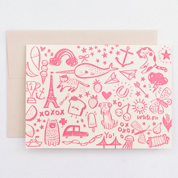 Write On Letterpress Card by Hello! Lucky