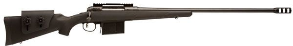Savage 111 Long Range Hunter Bolt Action Rifle 19482, 338 Lapua Magnum, 26 in, Black Synthetic AccuS - Able Ammo
