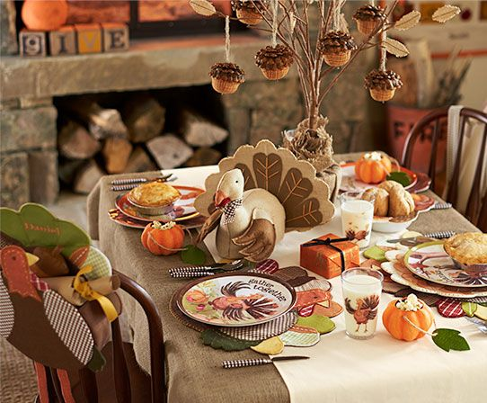 Adorable Thanksgiving party idea for kids - from Pottery Barn