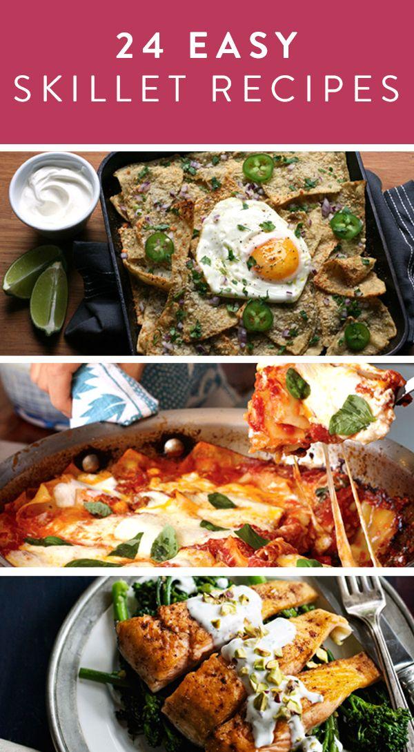 24 Easy Skillet Recipes via @PureWow
