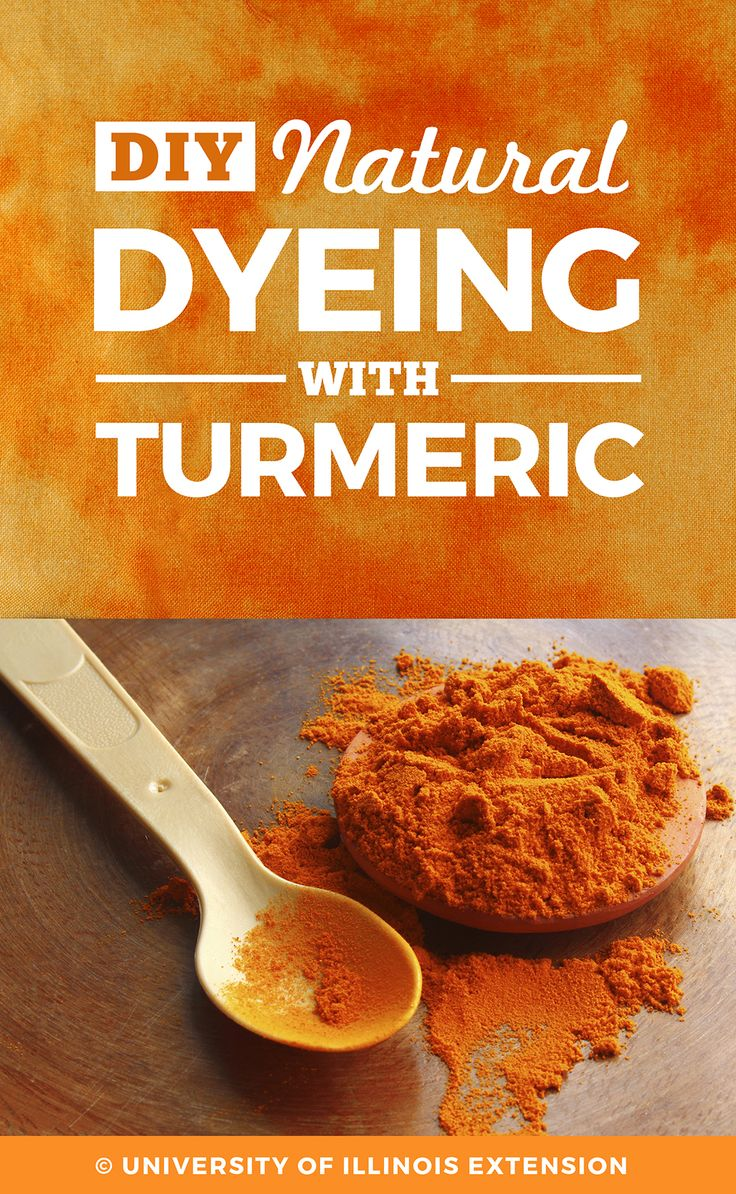 DIY Natural Dyeing with Turmeric #craft #project