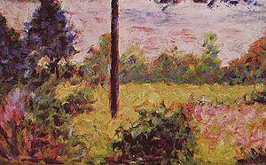 Foresta di Barbizon-Georges Seurat-1883 ca.-olio su tavola-16×25 cm-collezione Lewyt, New York