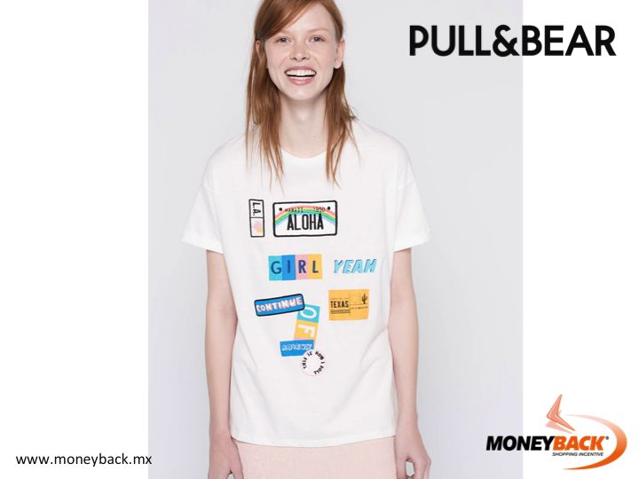 MONEYBACK MEXICO. Need a new t-shirt to give a new twist to your casual wardrobe? Visit PULL & BEAR and meet the different designs of t-shirts. Remember, PULL & BEAR Mexico is affiliated to Moneyback. #moneyback www.moneyback.mx