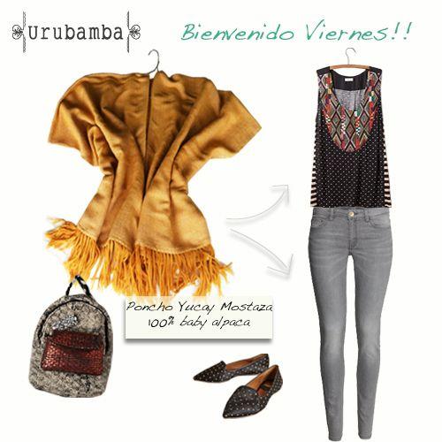 Outfit ponchos ruanas, babay alpaca