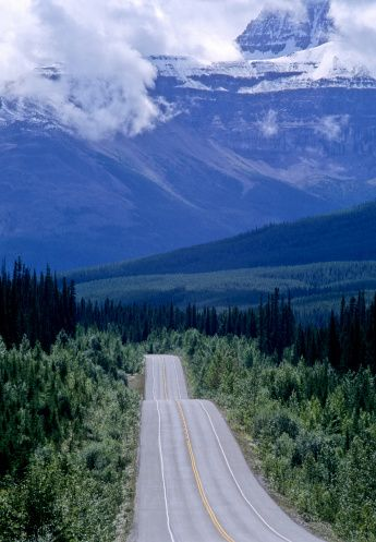 Icefields Parkway, Jasper National Park Canada.
