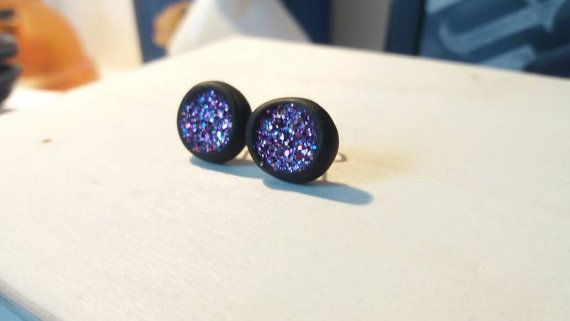 Glitter Cave Earrings di AFJewelryAndMore su Etsy