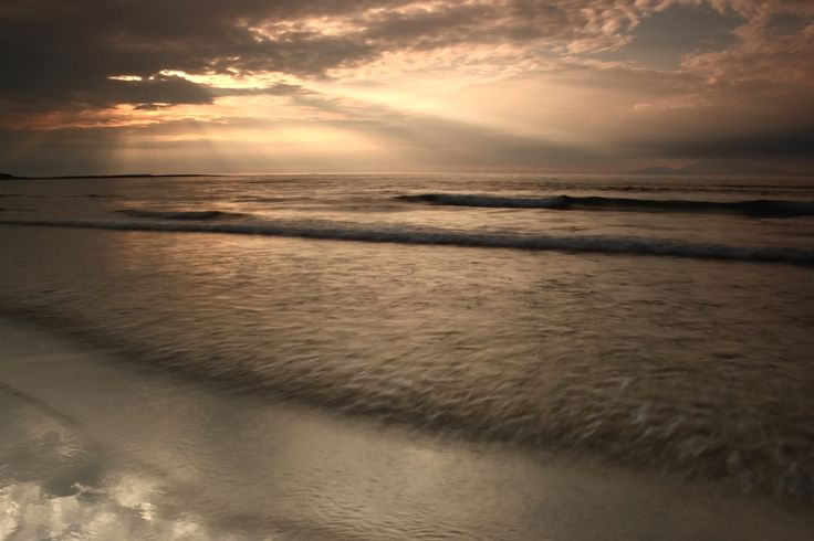 Evening mood at Irish West coast. Taken at Streedagh beach, County Sligo