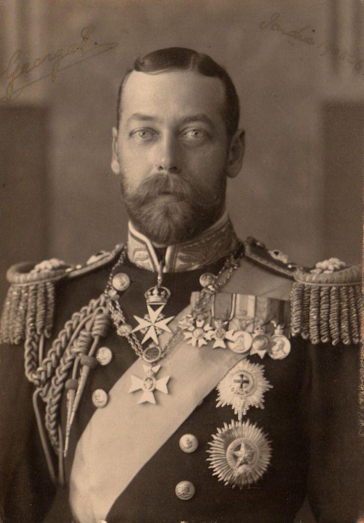 ❥ Vintage royal King George V - splitting image of cousin Czar Nicholas II ...
