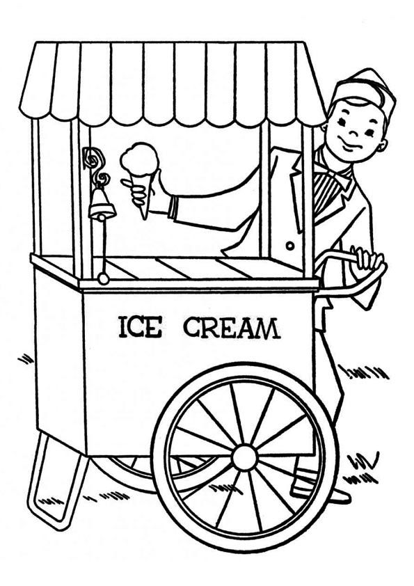 25 Yummy Ice Cream Coloring Pages Your Toddler Will Love