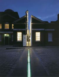 The meridian line at night, Royal Observatory Greenwich
