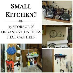 15 Storage/Organization Ideas for small kitchen