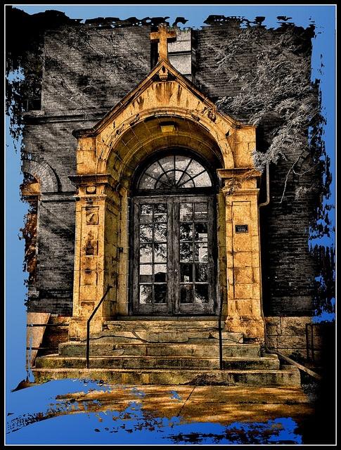 Saint Clare Gardens ~ Former Assumption School ~ Syracuse NY by Onasill, via Flickr