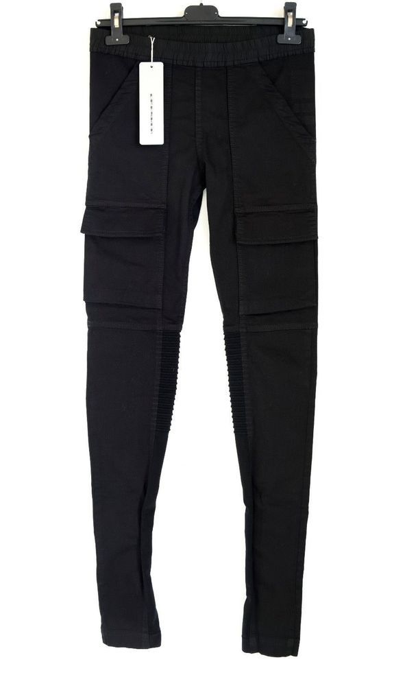 BNWT RICK OWENS DRKSHDW BLACK 'MOODY' LEGGINGS DENIM STRETCH sz SMALL,730$ #DRKSHDWBYRICKOWENS #DENIMLEGGINGS
