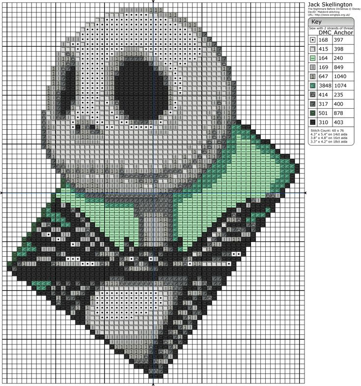 The Nightmare Before Christmas pattern - Birdie Stitching