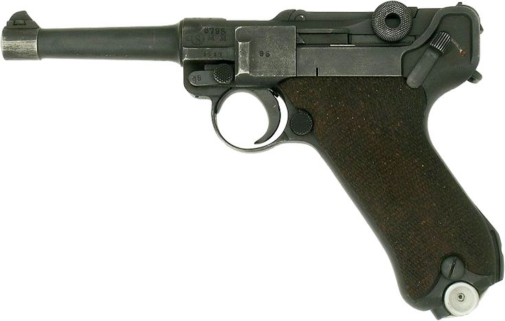 The Luger pistol similar the the one which the children find . . .