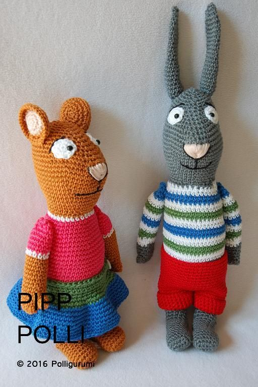 (4) Name: 'Crocheting : Pipp inspired by Pip and Posy characters
