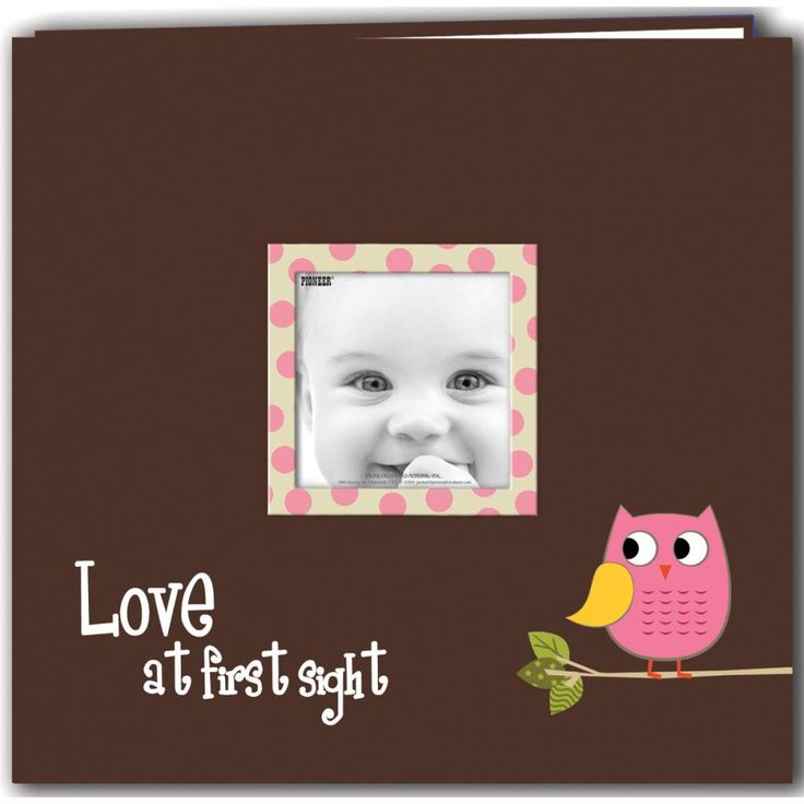 PIONEER-Baby Owl Printed Design Postbound Scrapbook Album This album can hold 12x12 inch pages, has a cover that is washable and durable with an expanding library spine. It has screw post binding with