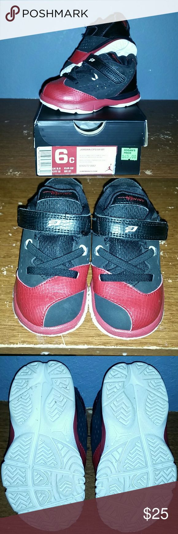 Toddler Jordan basketball shoes Toddler boys size 6 Jordan CP3 VII ....wore only 2x still new condition. Jordan Shoes Sneakers