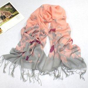 Little Butterfly Pattern Pashmina Wool Scarf
