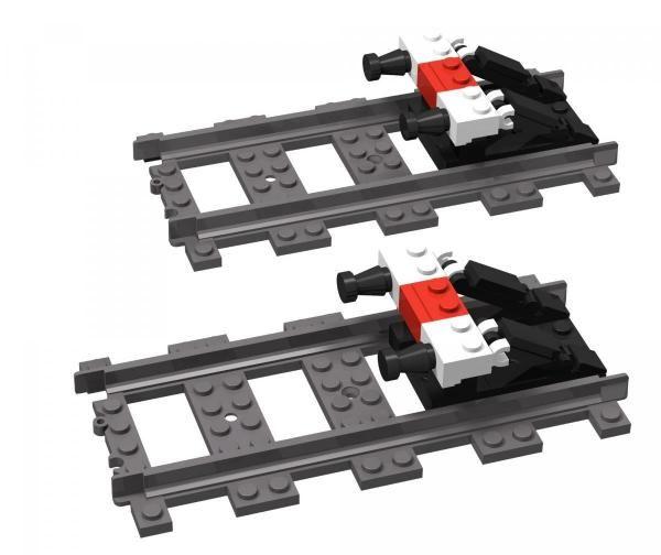 LEGO TRAIN RAILROAD  CUSTOM STOPBLOCK BUFFER BUMPER w PARTS /& INSTRUCTIONS TRAIN